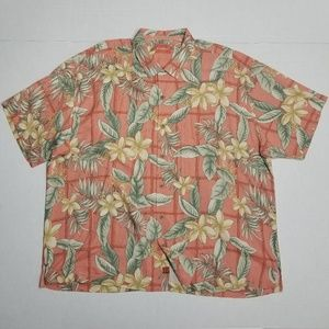 Tommy Bahama XXL Hawaiian short sleeve shirt silk